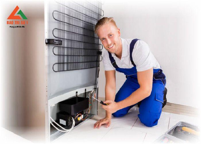 Tủ lạnh được hoạt động trở lại bình thường sau khi khắc phục sửa chữa xong