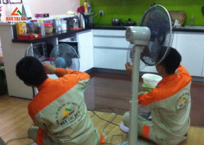 Bảo trì số 1 sửa quạt điện tại nhà khách hàng